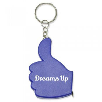 Personalized Thumb Up Shape Tape Measure Keychains