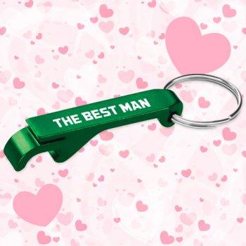 Keychain Wedding Favors Aluminum Bottle / Can Opener - Green