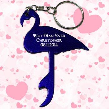 Promotional Flamingo Shape Bottle Opener Keychains