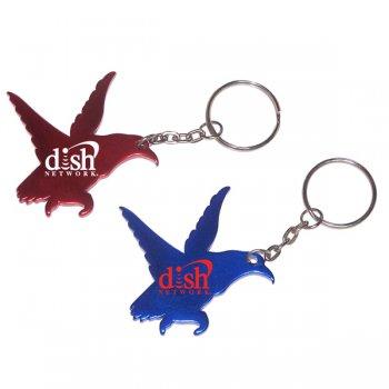 Custom Eagle Shape Bottle Opener Animal Keychains