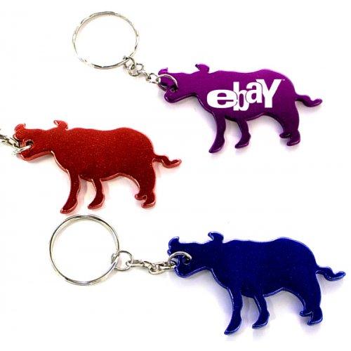 Customized Cow Shape Bottle Opener Animal Keychains