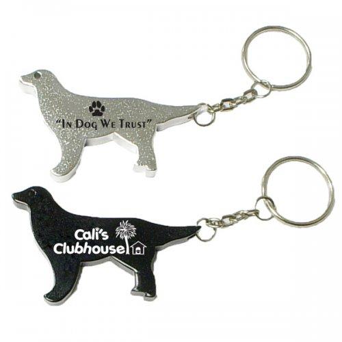 Customized Dog Shape Bottle Opener Animal Keychains
