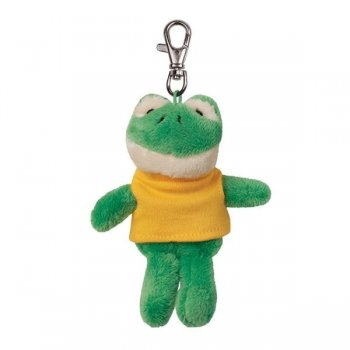 Logo Imprinted Soft Frog Key Tags with X -Small T -Shirt