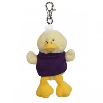 Personalized Soft Duck Key Tags with X -Small T -Shirt