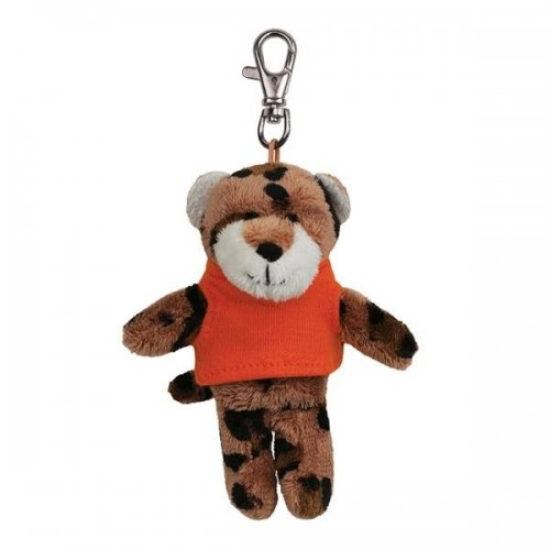 Promotional Logo Soft Leopard Key Tags with X -Small T -Shirt