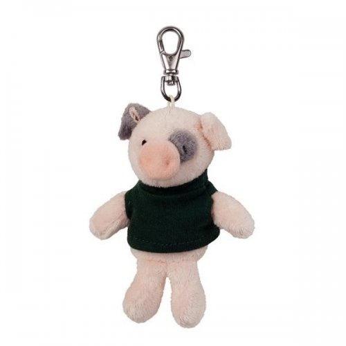Promotional Logo Soft Pig Key Tags with X -Small T -Shirt