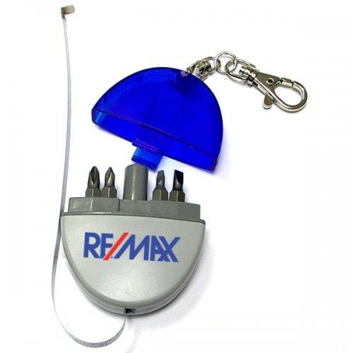Custom Mini Tool Kit with Tape Measure Automobile Keychains