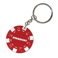 Promotional Poker Chip Keychains - Red
