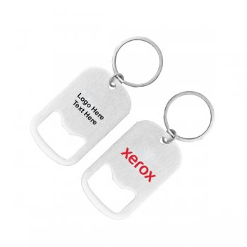 Custom Imprinted Sturdy Metal Bottle Opener with Key Holder