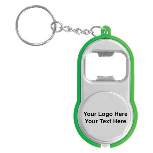 Logo Imprinted Bottle Opener Flashlight Keychains