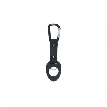 6mm Custom Carabiner keychains With Bottle Holder - Black