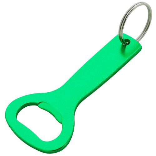 custom aluminum bottle opener keychain rings green. Black Bedroom Furniture Sets. Home Design Ideas