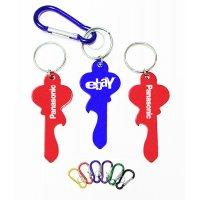 Custom Key Shape Bottle Opener Keychains