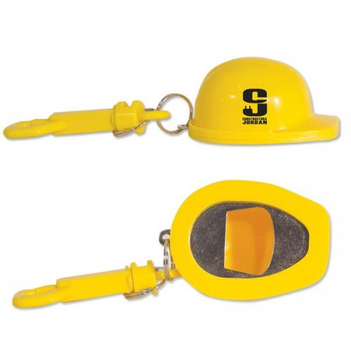 customized construction hat bottle opener keychains bottle opener keychains. Black Bedroom Furniture Sets. Home Design Ideas