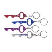Customized Key Shape Bottle Opener Keychains