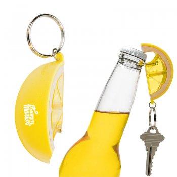 Customized Lemon Shaped Bottle Opener Keychains