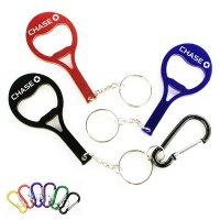 Customized Tennis Racket Shape Bottle Opener Keychains