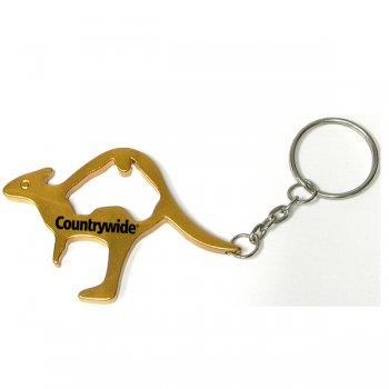 Kangaroo Shape Custom Bottle Opener Keychains