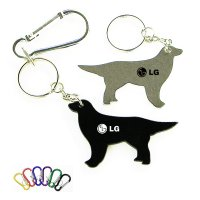 Personalized Dog Shape Bottle Opener With Carabiner Keychains
