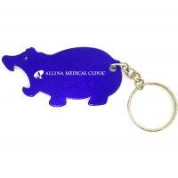 Personalized Hippo Shape Bottle Opener Keychains