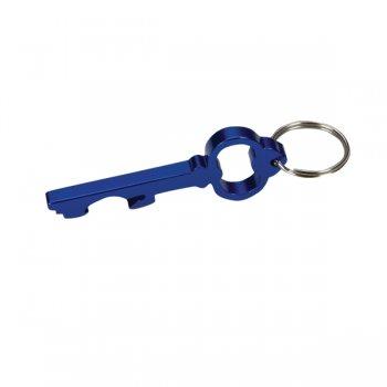 Personalized Key Shape Bottle Opener Keychain Rings - Blue
