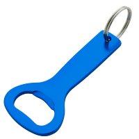 Promotional Aluminum Bottle Opener Keychains- Blue