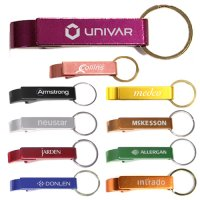 Promotional Deluxe Aluminum Can & Bottle Opener Keychains
