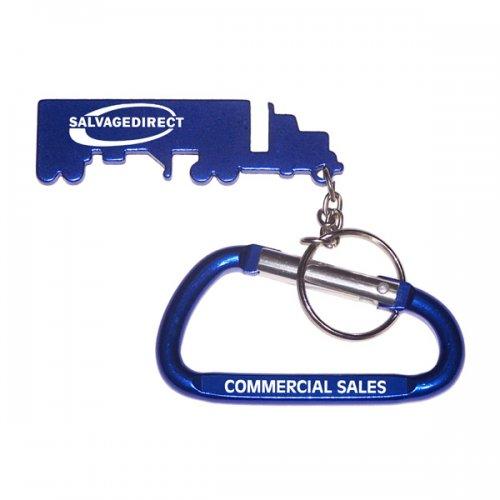 Custom Truck Shape Bottle Opener With Carabiner Keychains