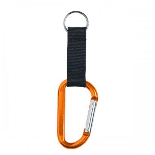 8mm Custom Carabiner Keychains Orange Carabiner Keychains