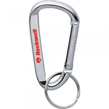Personalized Carabiner Keychains - Silver