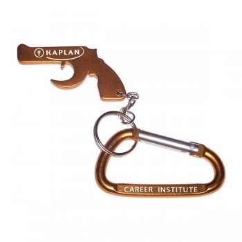 Personalized Gun Shape Bottle Opener With Carabiner Keychains