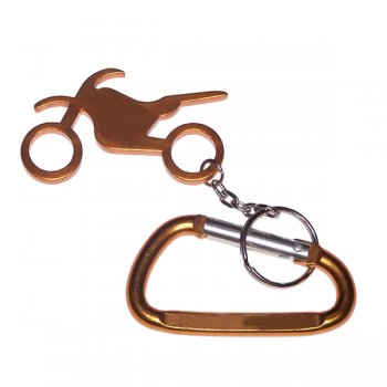 Personalized Motorbike Shape Bottle Opener & Carabiner Keychains