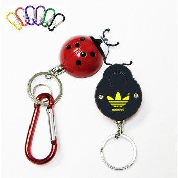 Promotional Ladybug Flashlight & Carabiner With Swivel Keychains