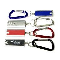 Rectangular Custom Flashlight  With Carabiner Keychains