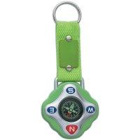 Custom Compass Keychain Rings - Lime Green