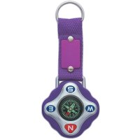 Customized Compass Keychain Rings - Purple