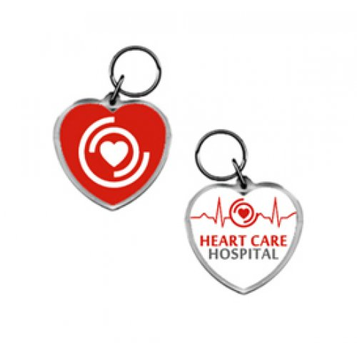 Custom Imprinted Heart Acrylic Keytags
