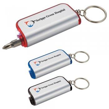 Imprinted Pocket Screwdriver/Key-Lights