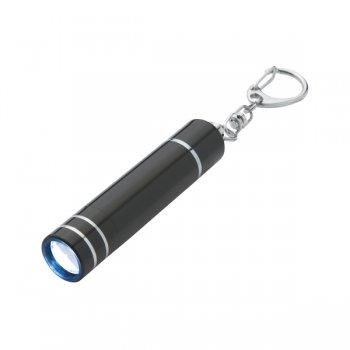 Custom Aluminum LED Light/Lantern keychains With Clip - Black