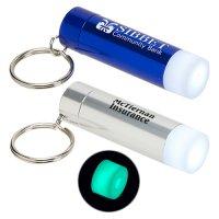 Custom Glow in the Dark LED Flashlight Keychains