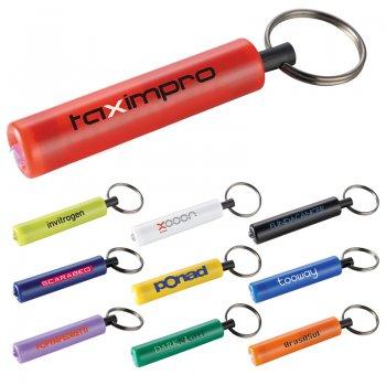 Imprinted Retro Flashlight Keychains
