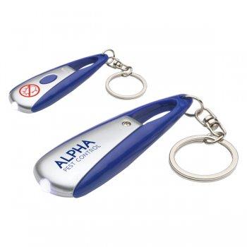 Custom Long Press LED Keychains  - Blue