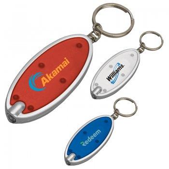 Printed Oval Keychain Flashlights