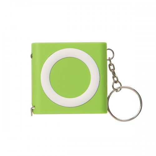 Custom Revolution Tape Measure Keychains - Lime Green