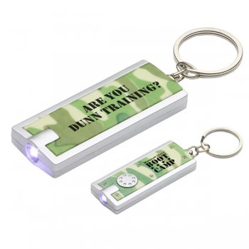 Simple Touch LED Keychains In Camouflage