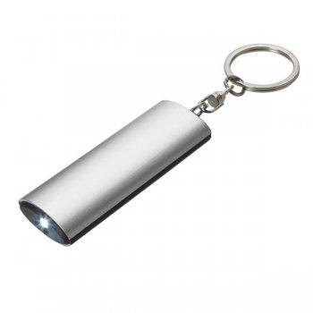 Customized Aluminum Flashlight Keychains - Silver