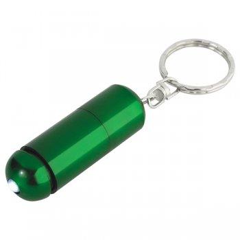Customized Aluminum LED Light Keychains - Green