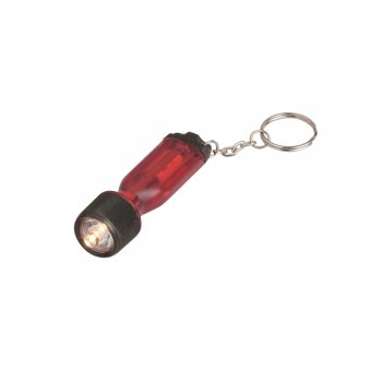 Customized Mini Tool Light Keychains - Translucent Red
