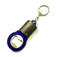 Customized Unique LED Flashlight With Bottle Opener Keychains