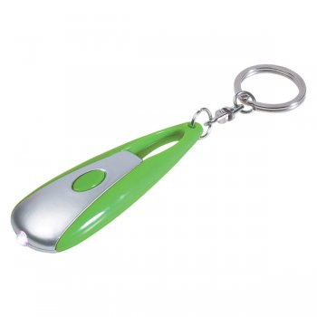Personalized Astro LED Light Keychains- Lime Green